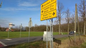 Hinweisschilder an der Tilbecker Straße in Roxel