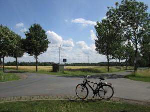 Blick Richtung Roxel vom Droste-Hülshoff-Gedenkstein