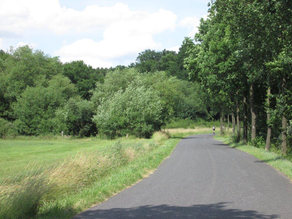 Radfahrer auf dem Twerenfeldweg in Nienberge