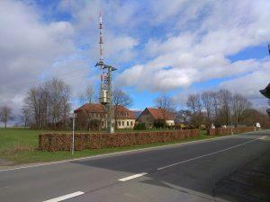 Wanderung Billerbeck - Baumberge, Roxel. 2. März 2020: WDR-Sendemast Baumberge