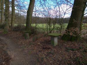 Wanderung Billerbeck - Baumberge, Roxel. 2. März 2020: Rast-Tische