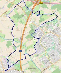 Routen Roxel - Haus Rüschhaus - Haus Spital - Roxel (Abbildung: gps-wandern.de, Karte: Openstreetmap)