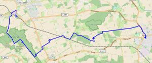 Übersichtskarte Wanderung Havixbeck – Baumberge – Roxel