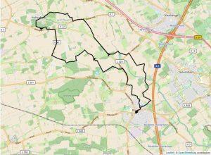 Übersichtskarte Wanderung Roxel - Burg Hülshoff - Hohenholte (Kartenmaterial: Leaflet mit Material von OpenStreetMap)