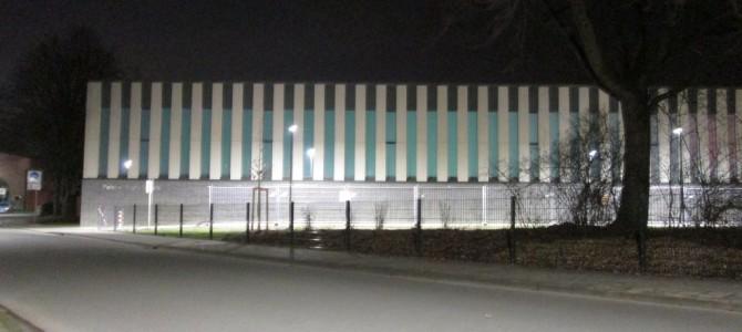 Nachts sind manche Ecken im Westen Münster gar nicht grau