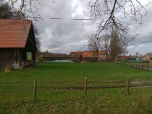 Wanderung Billerbeck - Baumberge, Roxel. 2. März 2020: Bauernhof in Tilbeck