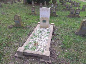 Grab eines indischen Soldaten auf dem Ehrenfriedhof Haus Spital in Nienberge