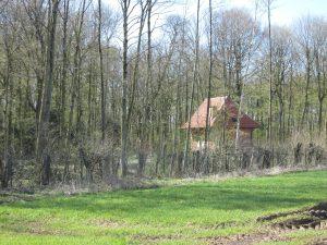 Rückrärtige Ansicht des Parks von Burg Hülshoff