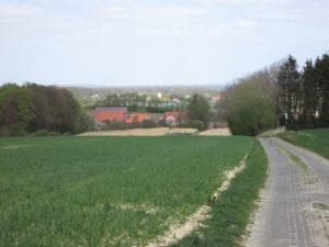 Blick von der Bruder-Klaus-Kapelle auf Havixbeck und das Münsterland
